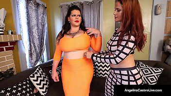 Lesbian Latina Duo, Angelinacastro & Missraquel Have Any Wet Strapon Sex! Miss Raquel Takes Angelina Amidst Her Little Girl Dick & Pounds Her Wet Pussy! Full Video & Live @ Angelinacastrolive.com!