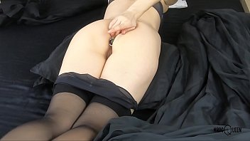 Mom Inserting Anal Plug Via Tight Ass And Fingering Authentic Wet Pussy