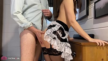 Lilu Moon Suck Cock And Solid Rough Sex - Cum Approaching Colossal Ass - Maid Cosplay