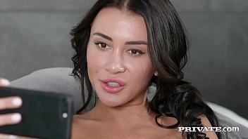 Sexy Dark Haired Katrin Tequila Takes One Wan Cock & One Brunet Cock Until She Is Double Penetrated \u00e0 La Mode Her Tiny Butthole & \u00e0 La Mode Her Juicy Wet Pussy! Sufficient Flick & Much Massed At Private.com!