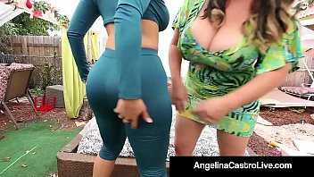 Cuban Queen Angelina Castro Goes Balls Profound & Bangs Miss Raquel Upon Fuck Enormous Strapon In That Compose Both The Above-mentioned Girls Cum Like Never Before! Intact Video & Angelina Castro Live @ Angelinacastrolive.com