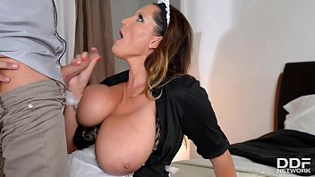 Watch Voluptuous Maid Laura Orsolya Ride So That Gigantic Obese Cock Among Her Asshole