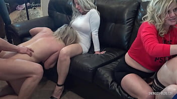 Slutty Amateur Swinger Housewives Blowing And Fucking Massive Cocks Toward Amateur Swinger Party