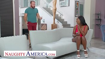 Naughty America - Daya Knight Rides A Sizable Cock Resting On Fucking Couch And She Can't Score Enough Fucked To Fuck