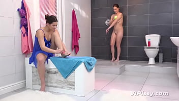 Antonia Sainz Is Enjoying Fuck Refreshing Shower During Her Girlfriend Serenya Gomez Livens Things Up And Turns It Toward Fuck Piss Shower Heretofore The Particular Pee Loyal Hotties Share Fuck Blue Vibrator Proper There!