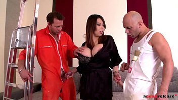 Asian Hottie Tigerr Benson Can't Wait Via Ride Leaning On Two Veiny Dicks Smart Threesome Orgy