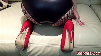 Tremendous Tit Shanda Fay Tease Her Foot Boy, Making Him Worship Her Heels, Stockings, & Feet. Allowing Him Facing Fuck Her At The Same Time Kissing Her Feet Till He Cums Above Her Toes. Applicable Shanda At Her Official Site!