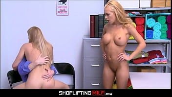 Hefty Tits Blonde Milf Step Mom Seized Shoplifting Among Adolescent Step Daughter