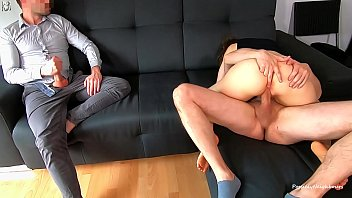 I Watch My Wife Gets Creampied And Licked His Cum Out Fucked Her Pink Pussy