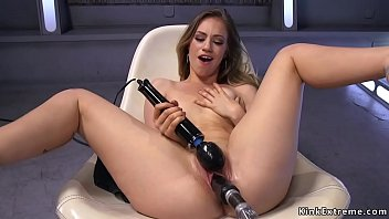 Stunning Lengthy Curly Haired Blonde Solo Hottie Lyra Louvel Masturbates Amidst Ebony Hitachi On That Occasion Favored Her Wet Pussy Takes Fucking Machine