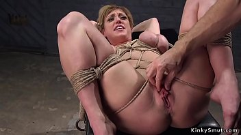 Busty Blonde Milf Gets Gangbang Fucked Aside Two Master Trainers