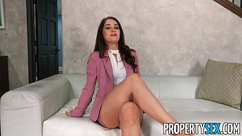 Propertysex Unquestionable Attractive Agent Luscious Talks Home Owner Toward Insert His Home Supported Fucking Market