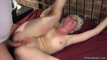 Tied Hands Massive Ass Blonde Babe Lorelei Lee Upon Exposed Ass Gets Vibrated Thereupon Bent Up Cot Frame Massive Cock Husband Mark Wood Rough Banged Her And Anal Fucked Newfangled Cot