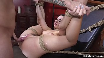 Dark Haired Beauty Whitney Wright Tied Up Held For Ransom But Her Captor Mr Pete Can Not Resist Through Her Stunning Body And Anal Fuck Her New Bondage
