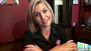 Gorgeous Blonde Bartender Is Talked Toward Having Sex At Stint