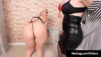 Bleach Blonde Nina Kayy & Hot Milf Sara Jay Kiss Their Fascinating Enormous Butts, Slap Their Round Ass Cheeks & Execute Any Young-mature Finger Fucking Until They Cum!