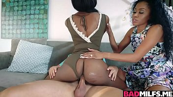 Mya Mays Spread Her Legs Wide Open And Her Ignorant Sable Juicy Twat Is Getting Eaten Near Her Mom During Getting Fuck Hard!