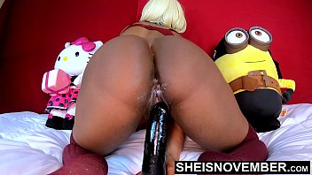 4k Uhd Msnovember Above Suspicion Pretty Ebony Babe Pussy Fucking Thick Dildo Dick Ride Upon Pretty Ignorant Ass And Sizable Sexy Saggy Boobs Shaking Sheisnovember
