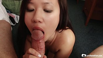 Through Earn A Bit Extra Cash, Previously Mentioned Hot Asian Babysitter Lay Her Mouth Through Work.