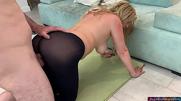 Stepmom Lets Her Stepson Fuck Her In The Time She Exercises Very He Doesn't Watch Porn