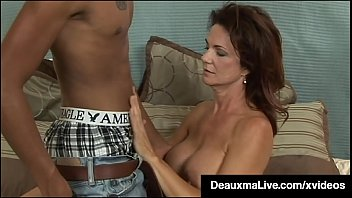 Busty Texas Cougar Deauxma Seduces A Young, Dark Teen Boy, Fucking His Fat Dark Dick & Riding Him Like A Cowgirl, Until He Busts His Nut Close To Her! Entire Video & Deauxma Live @ Deauxmalive.com!