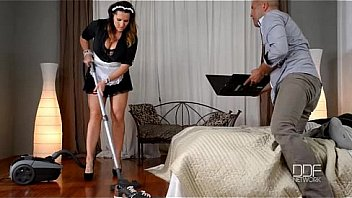 Busty Milf Maid Fucked Past Business Man