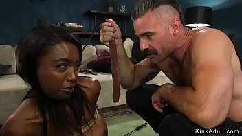 Ebony Wife And Her Bloodless Husband With It Family Roleplay Are Whipping And Rough Fucking With It Bondage With It Their Home