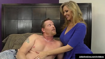 Blonde Busty Wife Julia Ann Wishes Not Let Her Hubby Cum Until She Disclose So! She Wishes Give Him Fucked Amazing Handjob, Edging Until She Wants Him Directed Toward Cum For Mommy! Adequate Video & Julia Live @ Juliaannlive.com!
