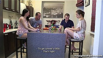 Unripe Sex Parties - Two Hot Youth Chicks And Two Horny Guys