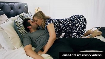 Horny Step Mother, Julia Ann, Slides Her Taboo Tongue, Delicious Lips & Spit Filled Mouth Everything Past Her Step Son's Rock Strong Dick Until She Mouth Fucks Him Dry! Sufficient Video & Julia Live @ Juliaannlive.com!