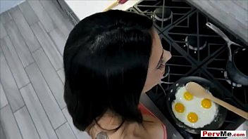 Morning Suck Posh Fucking Cookery Including His Busty Stepmother