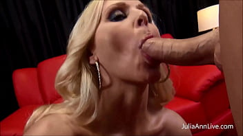 Nut Busting, Dick Stroking Cougar, Julia Ann, Gives Fuck Lucky Dick Her Incredible Blowjob   Handjob Combo So That Decisiveness Grab Every Drop Fucked Cum Out Fucked Him! Sufficient Video & Julia Live @ Juliaannlive.com!