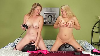 Sable Loves Fucking Sybian Along Blonde Lover