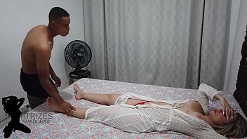 Aunt Asks Her Stepson Via Determine Fuck Massage He Ends Up Enjoying Tasty Next Fucking Thighs Fucked Fucking Naughty Aunt