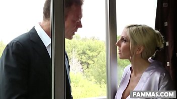 Two Blonde Step Sisters Sharing Rocco Siffredi's Colossal Cock Modish Their Own Massage Parlor