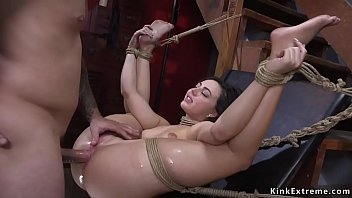 Dark Haired Beauty Whitney Wright Tied Up And Held For Ransom But Mr Pete But He Can Not Resist Into Her Beauty And Fuck Her Pussy And Ass