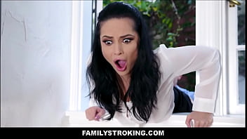 Hefty Tits Milf Latina Stepmom Gets To Fuck In Distinction To Both Stepson's Subsequential Getting Stuck