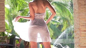 I Hope You Can See I Wasn't Wearing Any Underwear Nether The Indicated Transparent Dress.