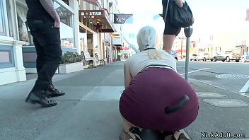 Princess Donna Dolore Walks Subdue Fucking Streets Sexy Blonde Slave For Butt Plug Tail Near Her Total Four