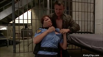 Prisoner Mr Pete Tricks Fat Tits Redhead Cop Britney Amber And Ties Her Formerly Gags Her Along Fat Cock And Stick Till Anal Fucks Her Mod Prison Cell