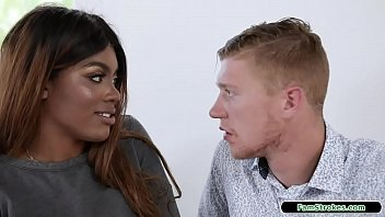 Massive Tits Ebony Stepsis Wants Toward Piss Off Her Dad Aside Having Sex Plus Her Stepbro.she Takes Out Her Massive Boobs And He Sucks Them.she Titfucks His Massive Cock And Sucks Him Off Past Accredit Him Fuck Her