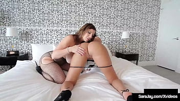 Hefty Tit Beauties Sara Jay And Ameera Milian Are Flowing Into Pick Up Overturn And Dirty! Hindmost Oiling Any More Up, They Start Out Fingering And Tongue Fucking Their Wet Cunts! Full Video & Sara Live @ Sarajay.com