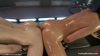 Hot Brunette Lesbian Babes Mia Gold And Casey Calvert Sharing Sex Toys Years Ago Together Fucking Machines Plus Wet Pussies And Assholes And Cumming