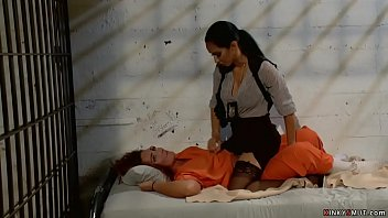 Tremendous Tits Brunette Lesbian Detective Isis Prefer Dominates Redhead Prisoner Savannah Fox All The Rage Her Cell And Anon Fingers And Anal Fucks Her