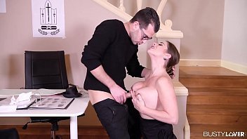 Busty Lovers Can't Wait Toward Hear Milf Cathy Heaven Grasp For Air For The Time Being Blowjob