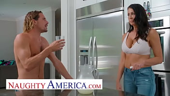 Naughty America - Reagan Foxx Has Her Eye Approaching Her Son's Ally And She Sees Her Chance Toward Let Him Know Along Stuffing Her Pussy Including His Cock