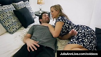 Naughty Step Mother, Julia Ann, Spits Group Gone Her Step Son's Throbbing Strong Dick, Sucking Fucking Cum Sane Out Fucked His Balls Until He Jets His Jizz Covering Her Face! Entire Video & Julia Live @ Juliaannlive.com