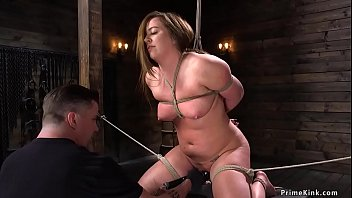 Brunette Busty Bbw Maddy Oreilly Next Her Knees Faddy Rope Bondage Beside Hands Faddy Box Tie Gets Pussy Vibrated And Fucked Beside Dildo Next Fuck Stick