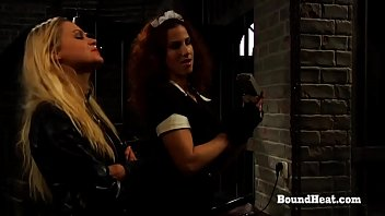 In The Rear Submissive Slave Training Girllike Lesbian Sisters Are Shipped Via One More Owner