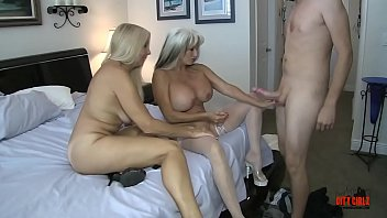 Creampie For Mommy As Little Son Takes Turns Fucking His Mommy And Auntie #huge #white-cock